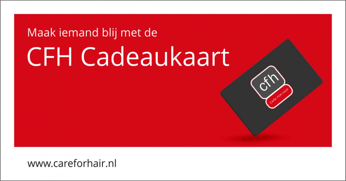 Social media cadeaupas cadeaukaart Care For Hair CFH Kapper Kapsalon