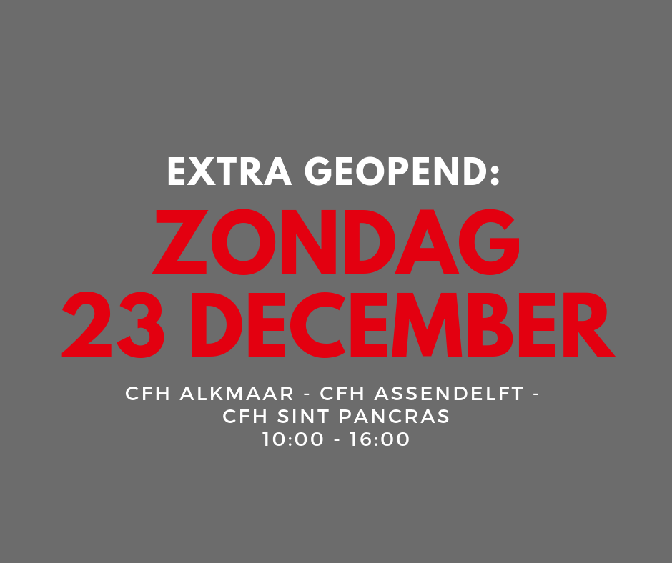 CFH Care For Hair Extra Geopend: zondag geopend
